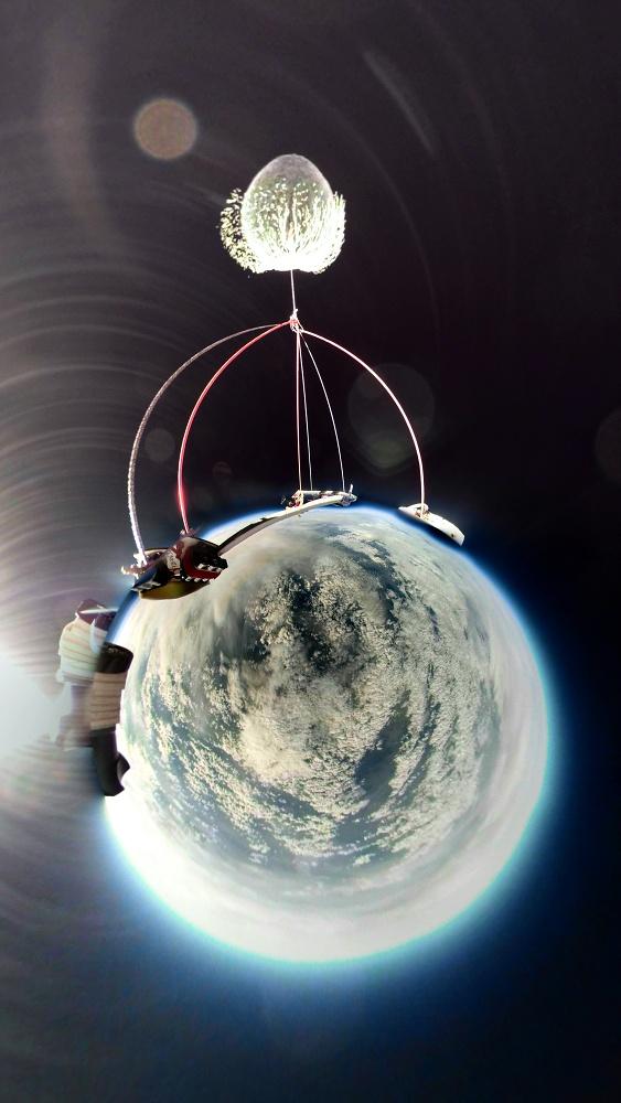 V jednom záběru je vše - praskající balon i pohled na Zemi z výška 31 km